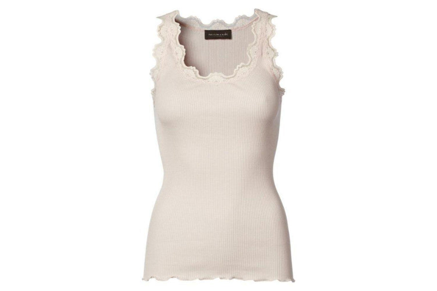 Rosemunde Iconic Silk Top with Lace