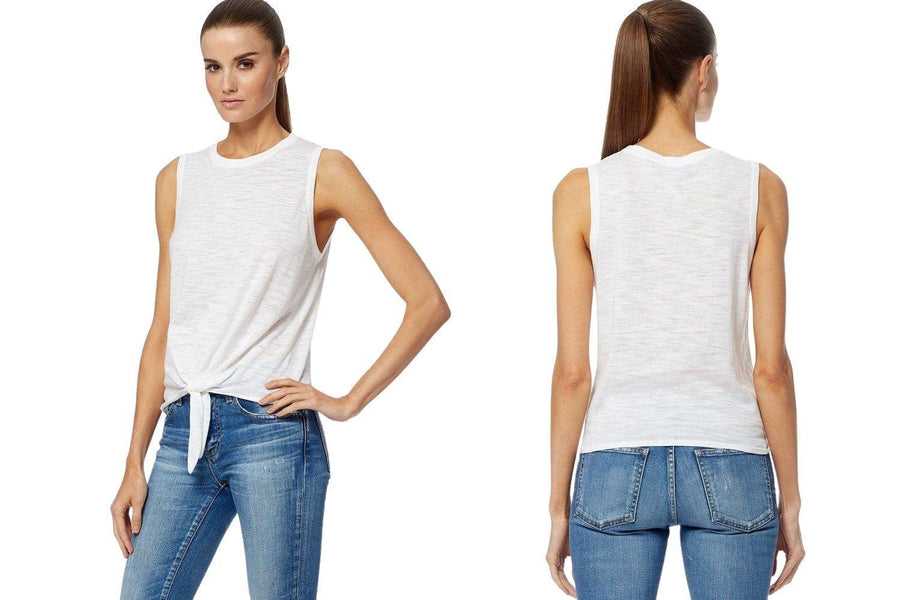 360 Cashmere Arwen Cotton Tank in White - Carriage Trade Shop