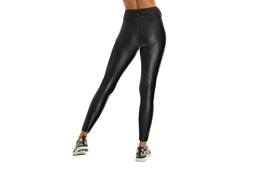 Koral Lustrous High Rise Legging in Black Croc