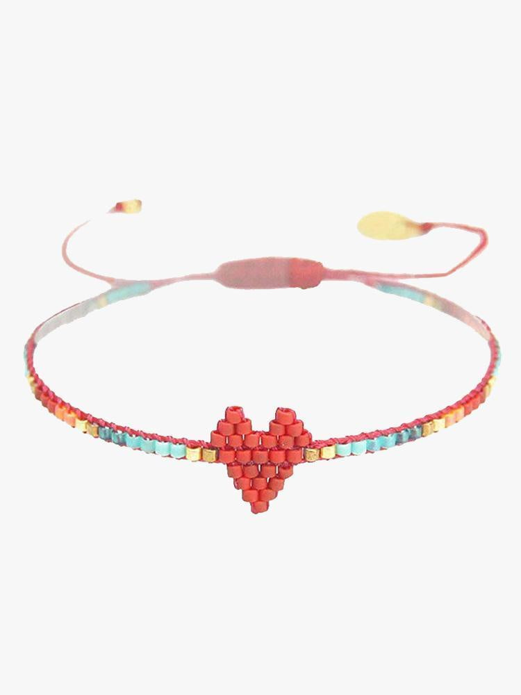 Mishky Heart Bracelet in Red/Turquoise