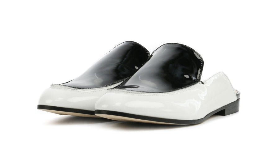 Marc Cain Ladies Mules in Black and White
