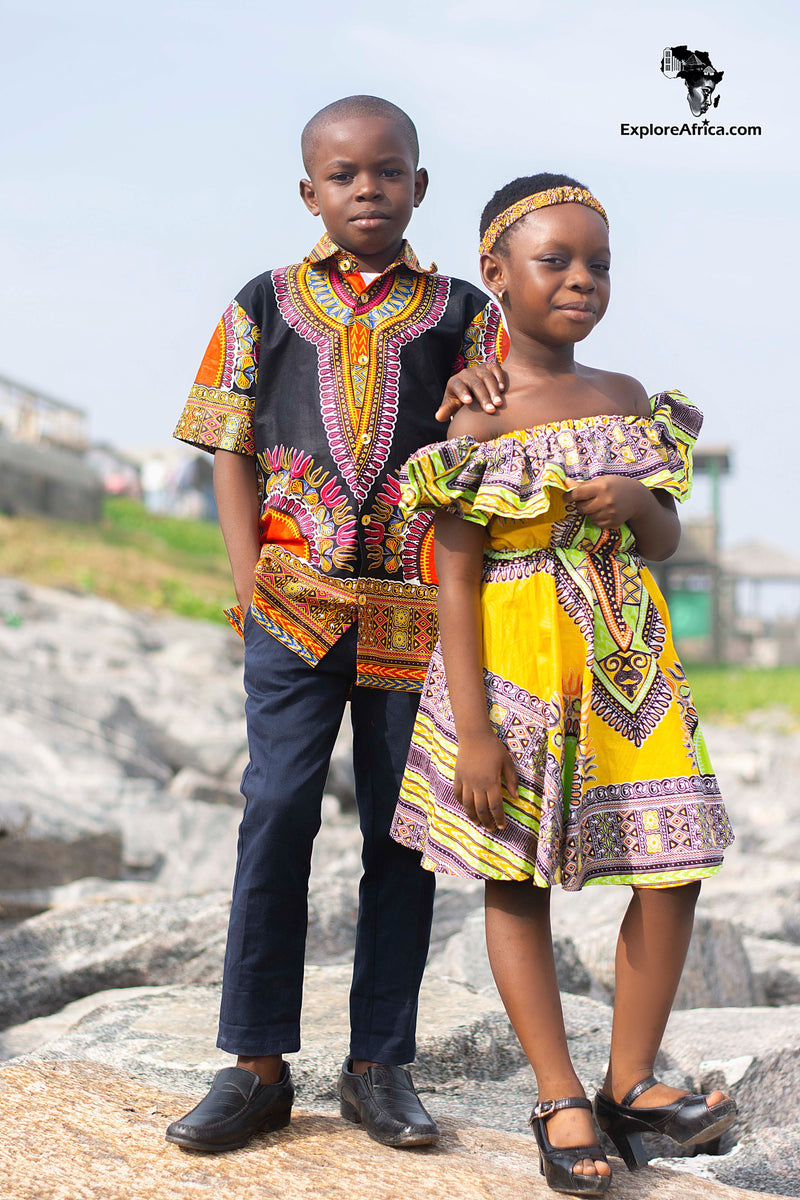African Clothing: Young Boy African Dashiki Shirt