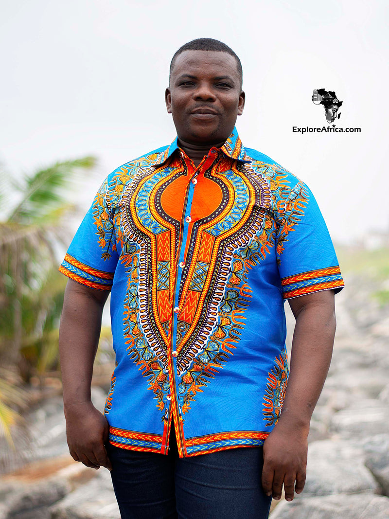 Wiredu Modern Brown African Short-Sleeved Shirt