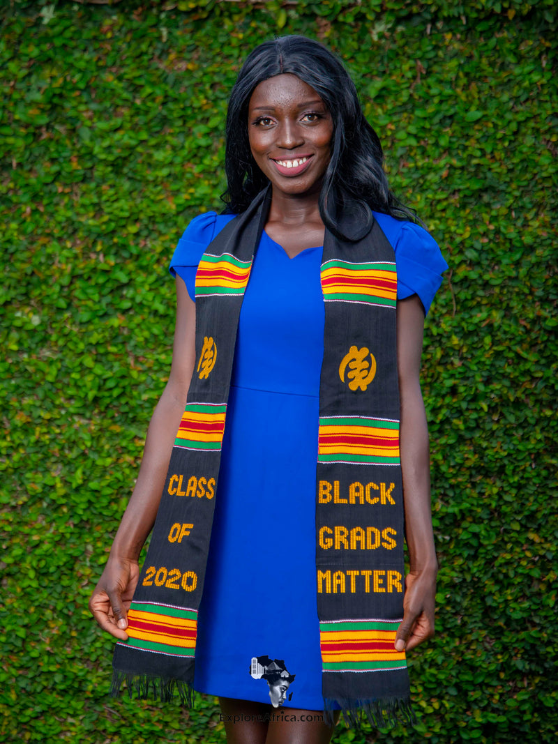 African Graduation Kente Stole - Black Girl Magic