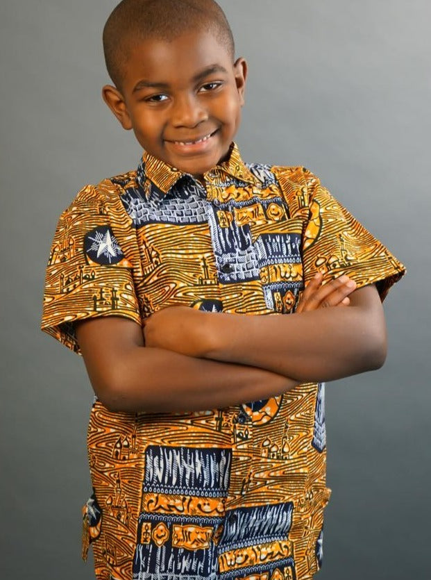 Yaw African Dashiki Boy's Shirt