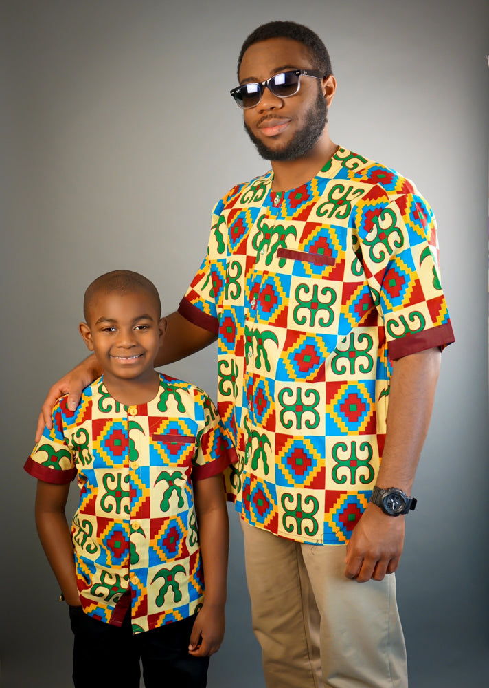 Adinkra African  Men's Shirt