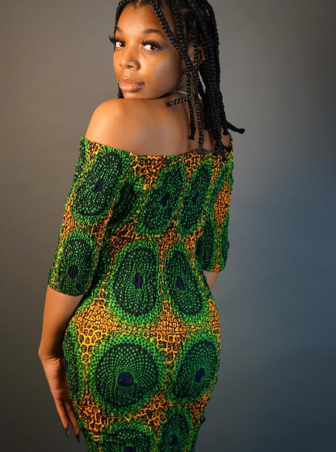 Ohemaa African Kente Plus Size Midi Skirt- Plus Size Skirt Only