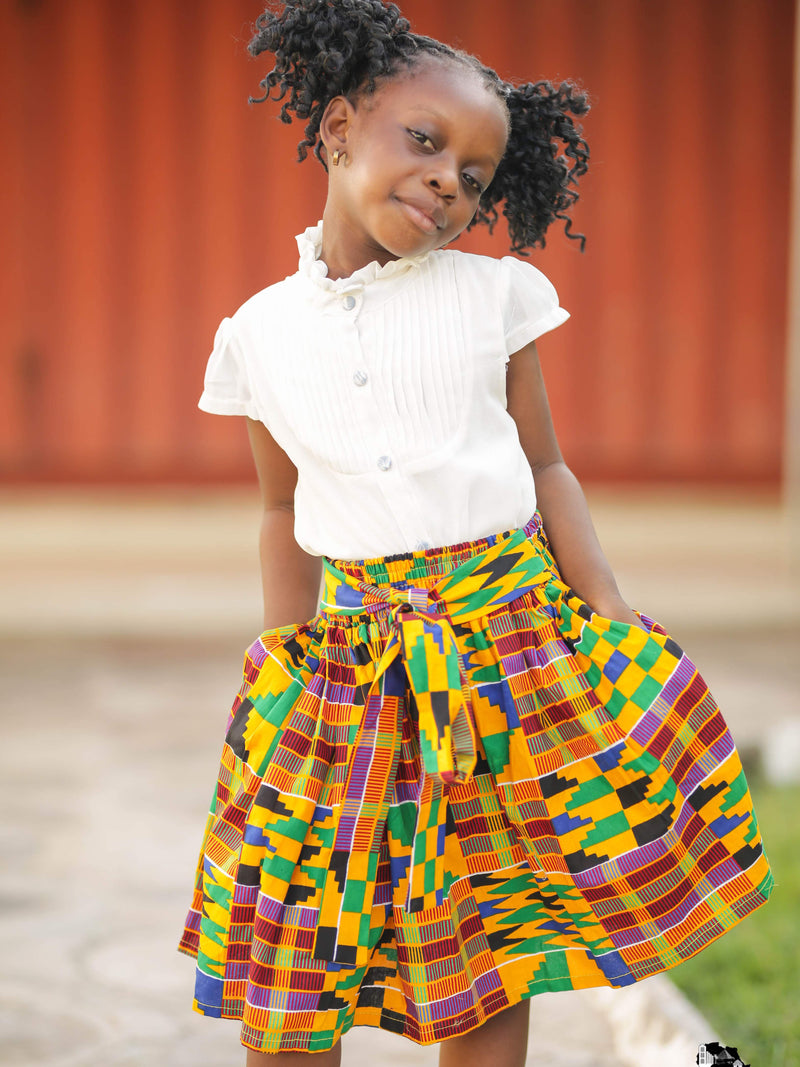 African Fashion: African Young Girl Kente Skirt