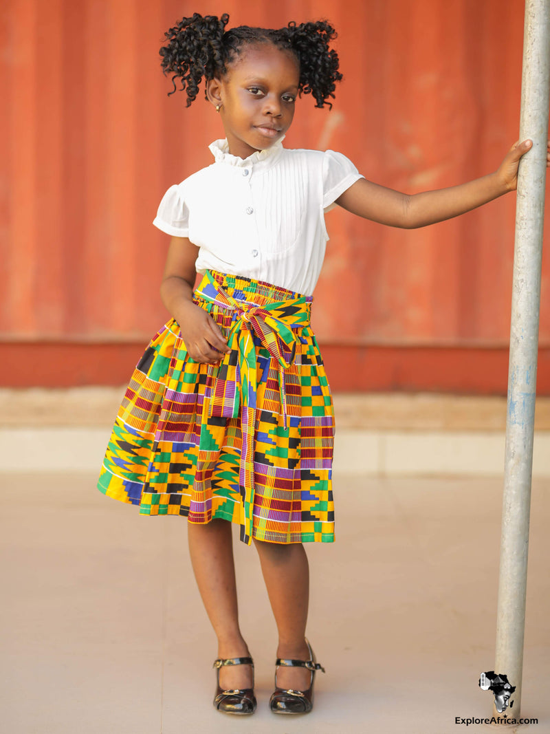 Ohemaa Girl's African Kente Dress