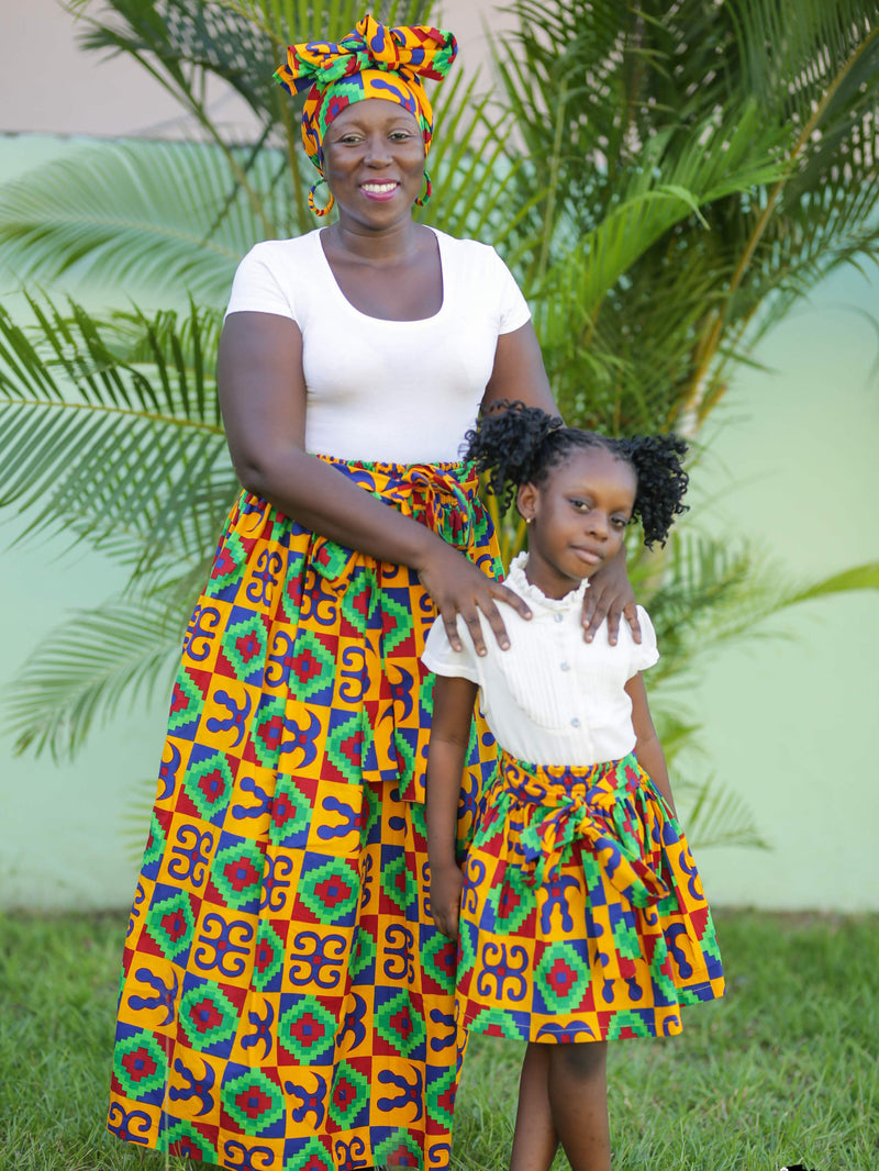 African Clothing: Matching Skirt for Mom and Daughter
