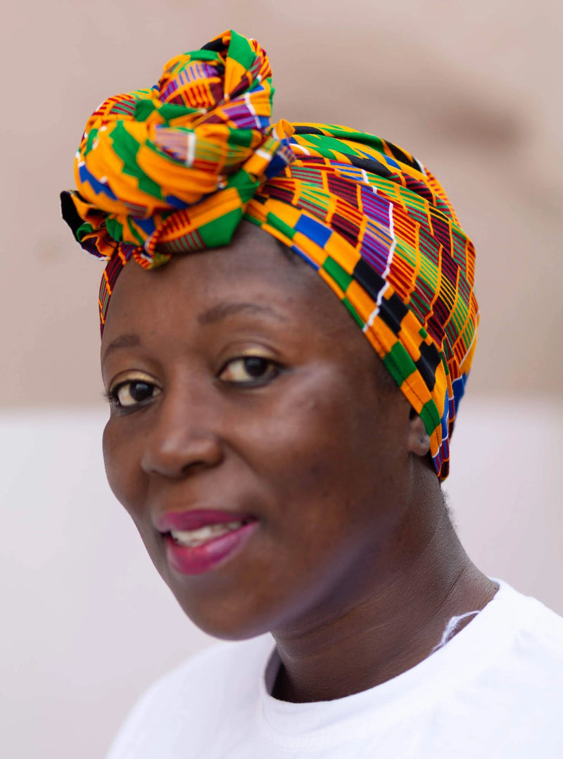 Abusua African Kente Head Wrap