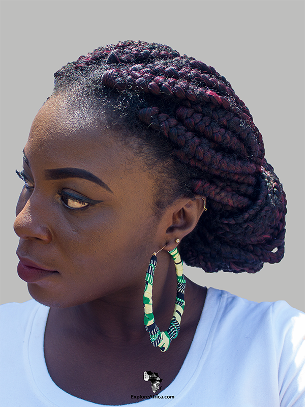 African Fashion: African Print Earrings