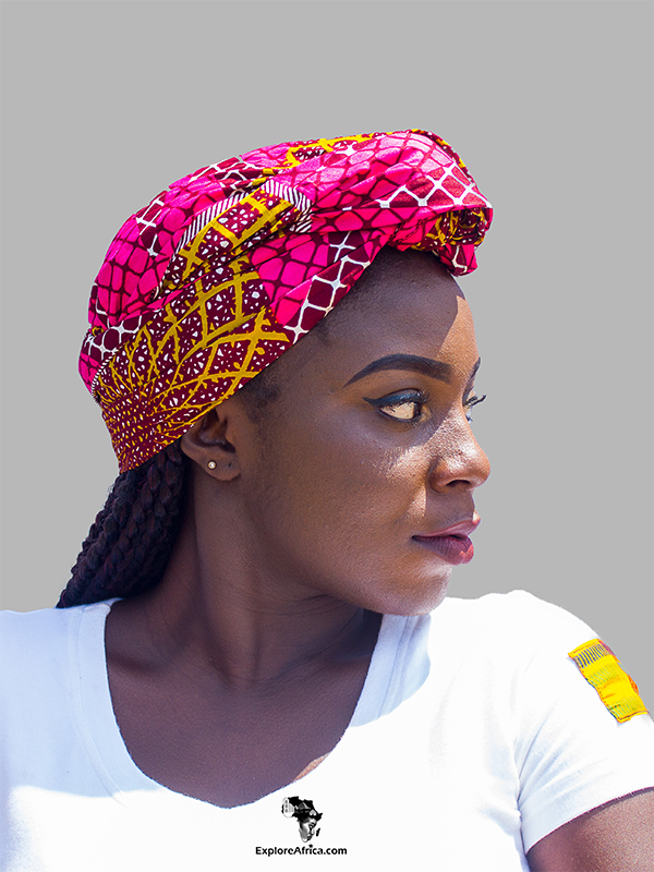 African Clothing: Dashiki Head wrap and Earrings