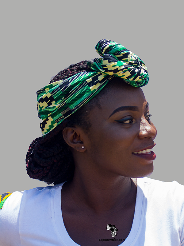 Mansa Yellow and Green African Ankara Head Wrap