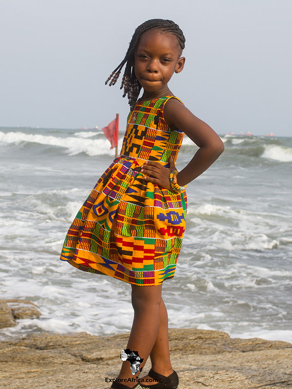 African Fashion: African Young Girl Kente Dress