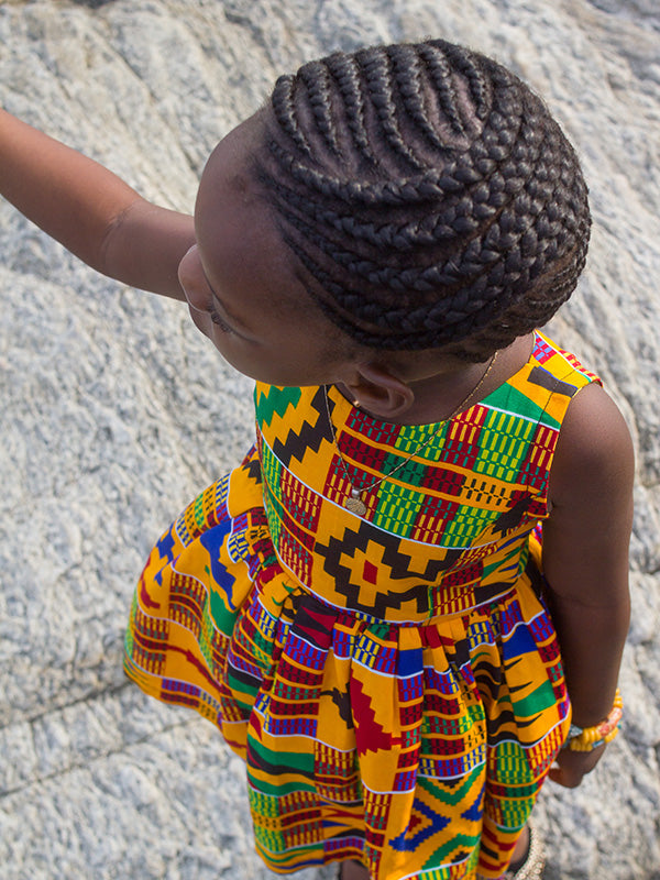 Young Girl Kente Dress
