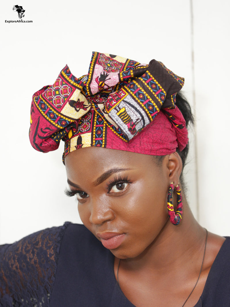 Gyamfuaa African Kente Head Wrap