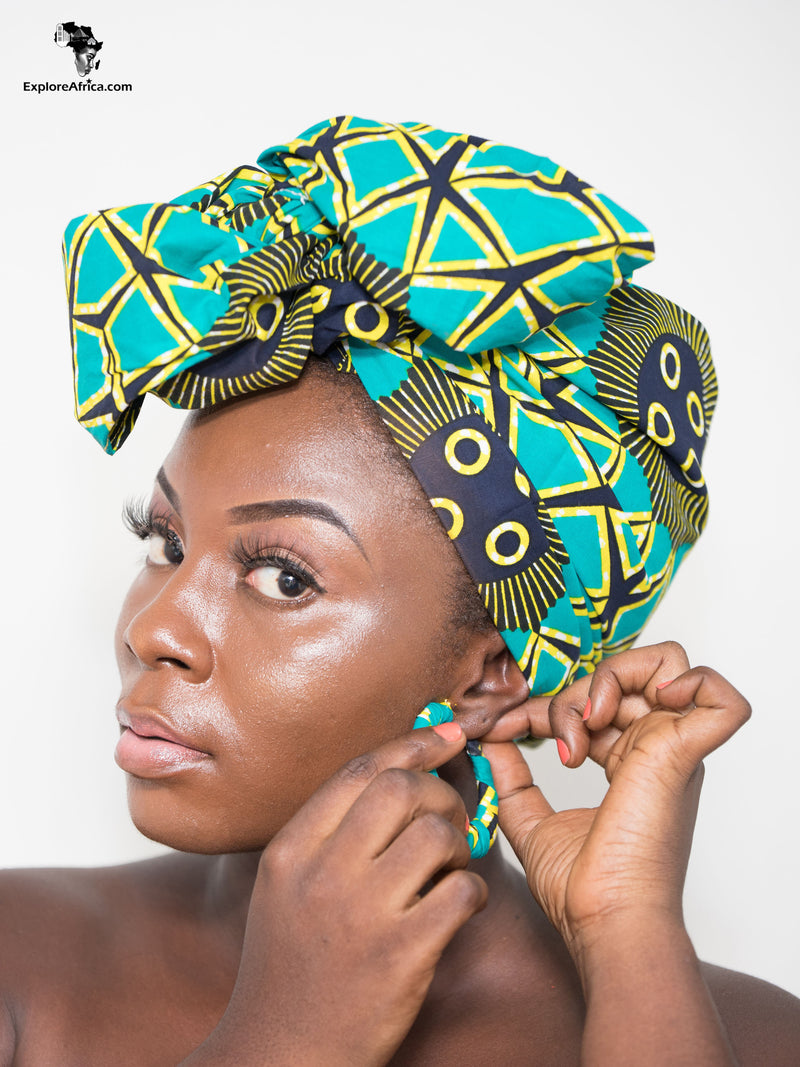 Explore Africa Clothing Head Wraps and Earrings
