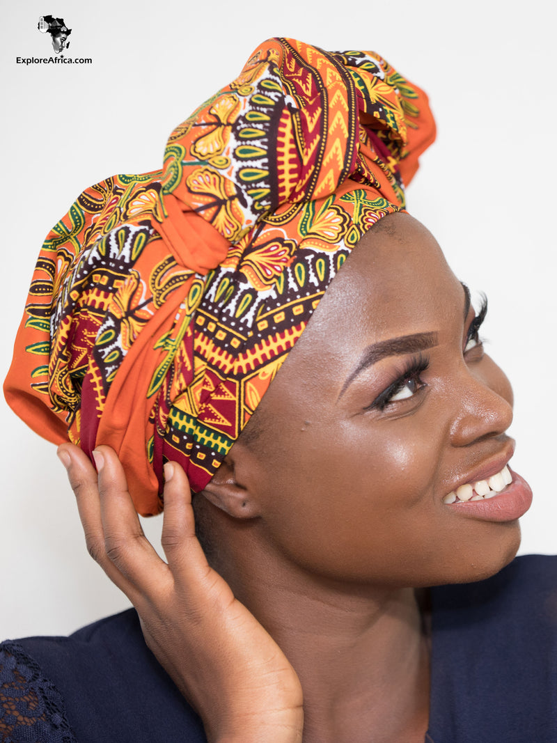 Aku African Dashiki (White) Head Wrap