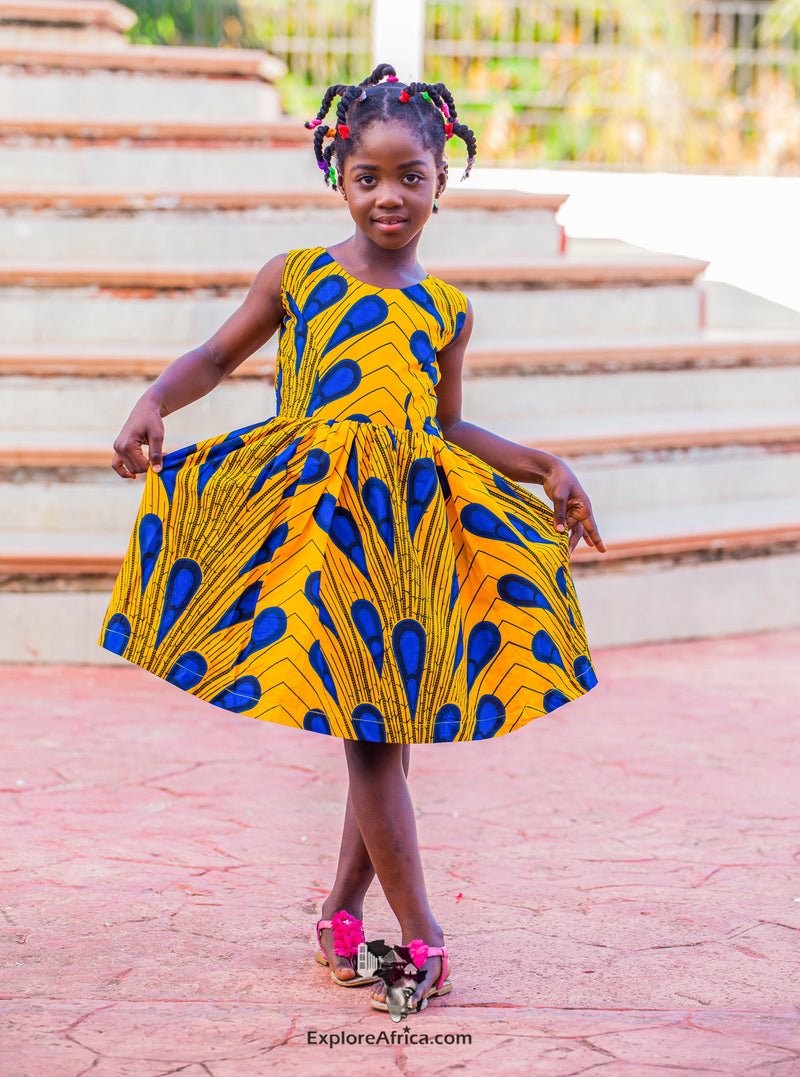 ExploreAfrica African clothing: African Girl's dress
