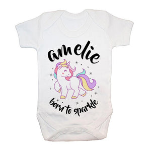 0b1631cde456 Personalised Born to Sparkle Unicorn Vest - Chic Boutique Personalised Gifts