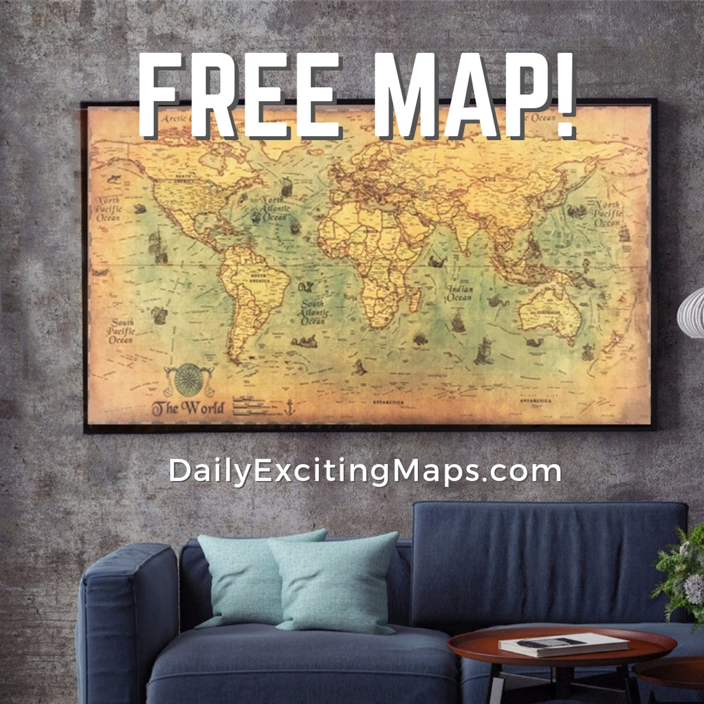 *FREE* Vintage Nautical World Map Poster