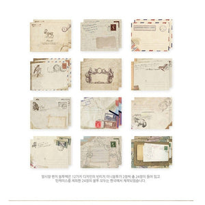 Vintage Postcards with Envelope 12 / box