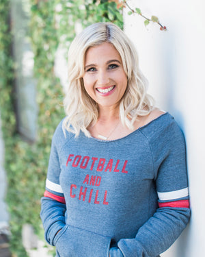 """Football and Chill"" Sweatshirt"