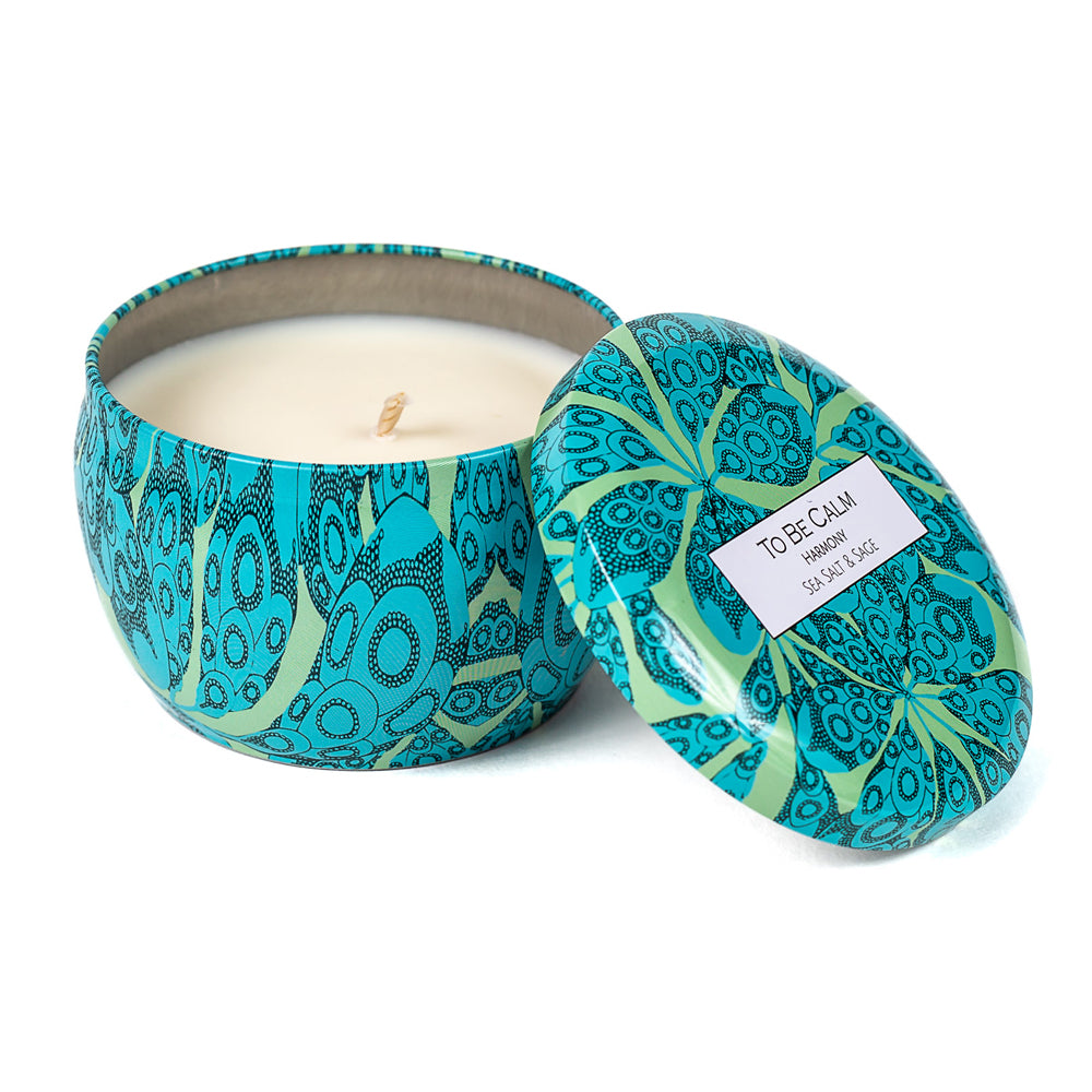 Blue City Scene - Mini Candle Trio
