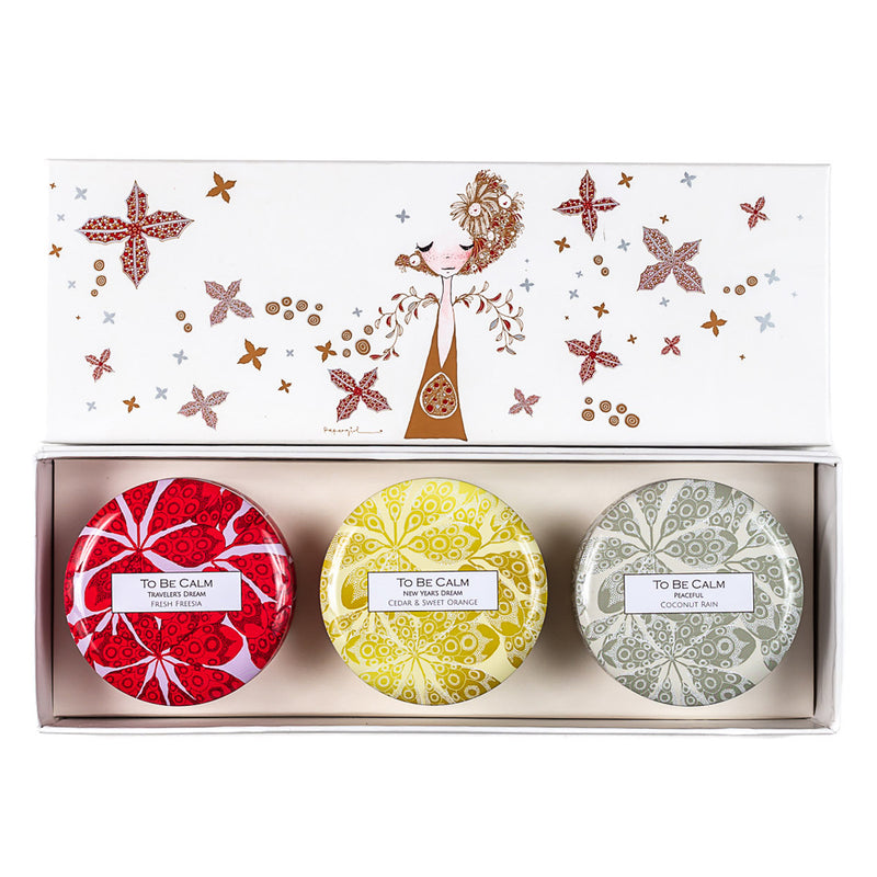 Santa Christmas - Mini Candle Trio