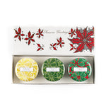 Holly Christmas - Mini Candle Trio