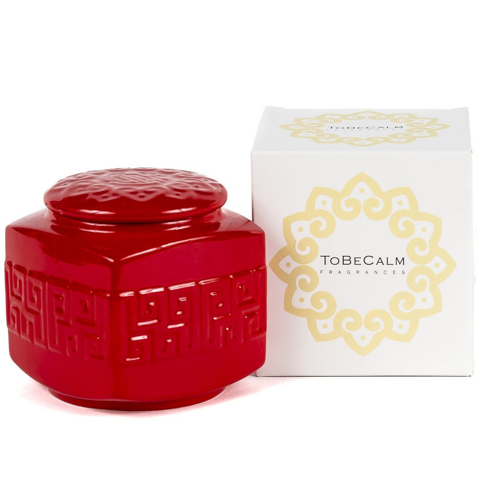 Red Porcelain Christmas - Tea Caddy Candle
