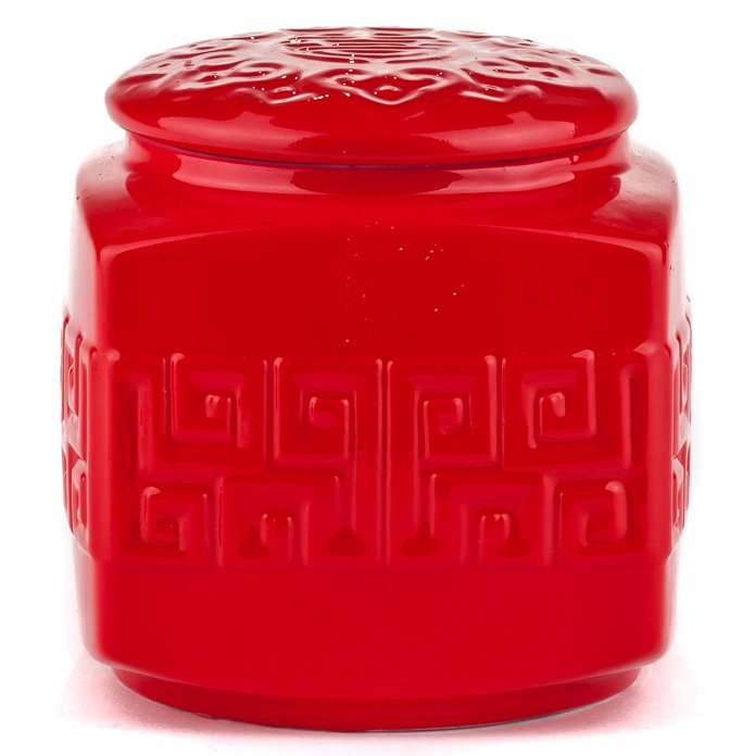 Double Happiness Red Porcelain - Tea Caddy Candle