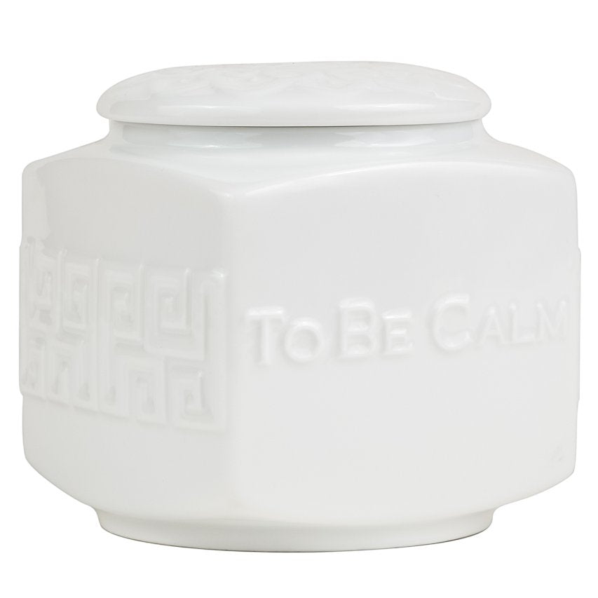 Double Happiness White Porcelain - Tea Caddy Candle
