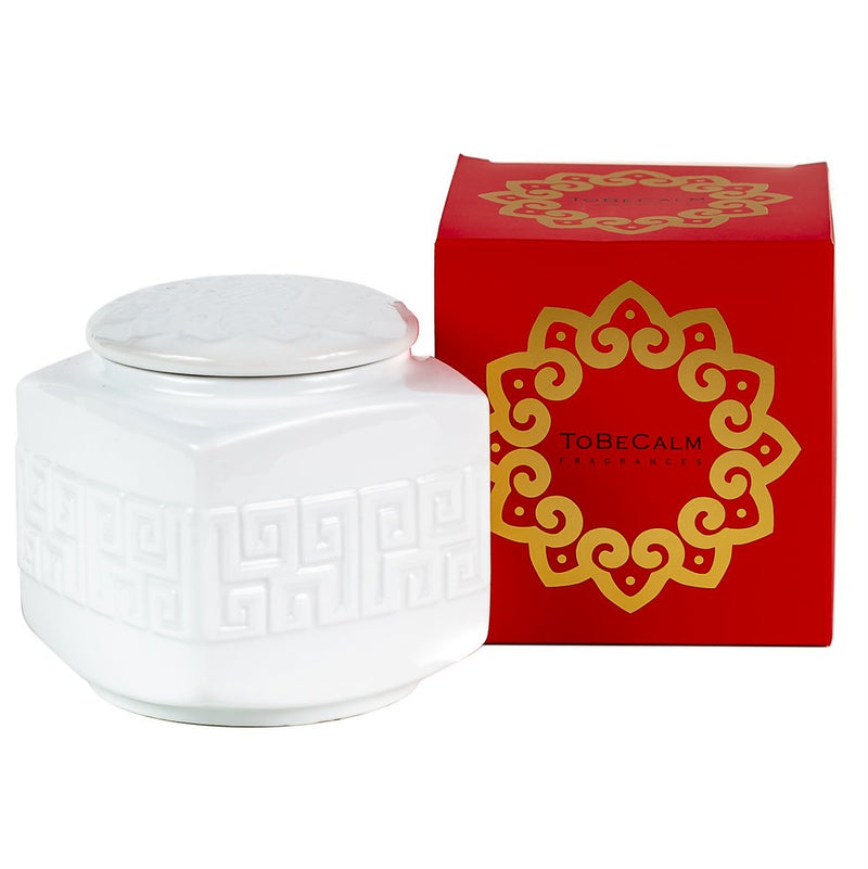 White Porcelain Christmas - Tea Caddy Candle