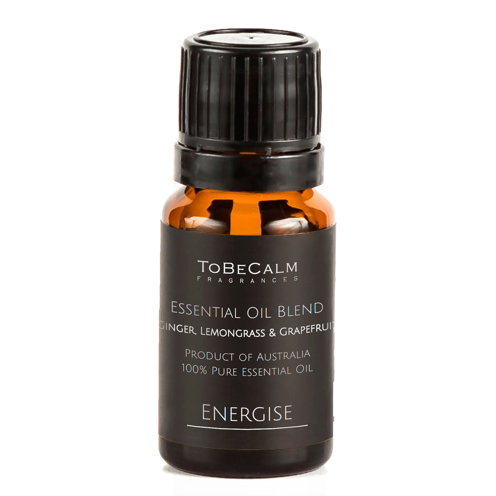 Energise - Ginger, Lemongrass & Grapefruit - Essential Oil Blend