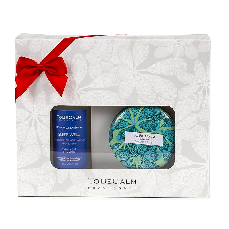 Treat Me - Tranquility Massage Oil & Tea Caddy Candle - Hamper