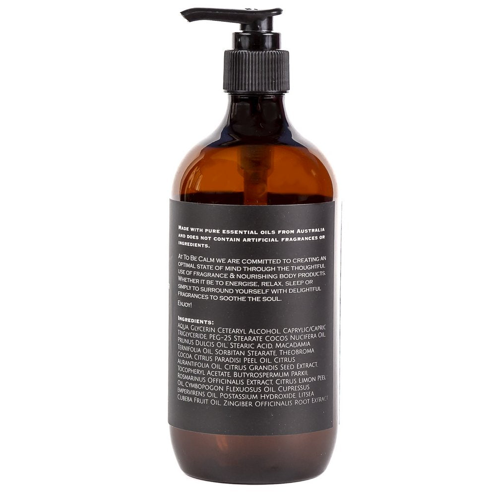 Energise - Lemongrass, Lime & Ginger - Moisturiser 500ml