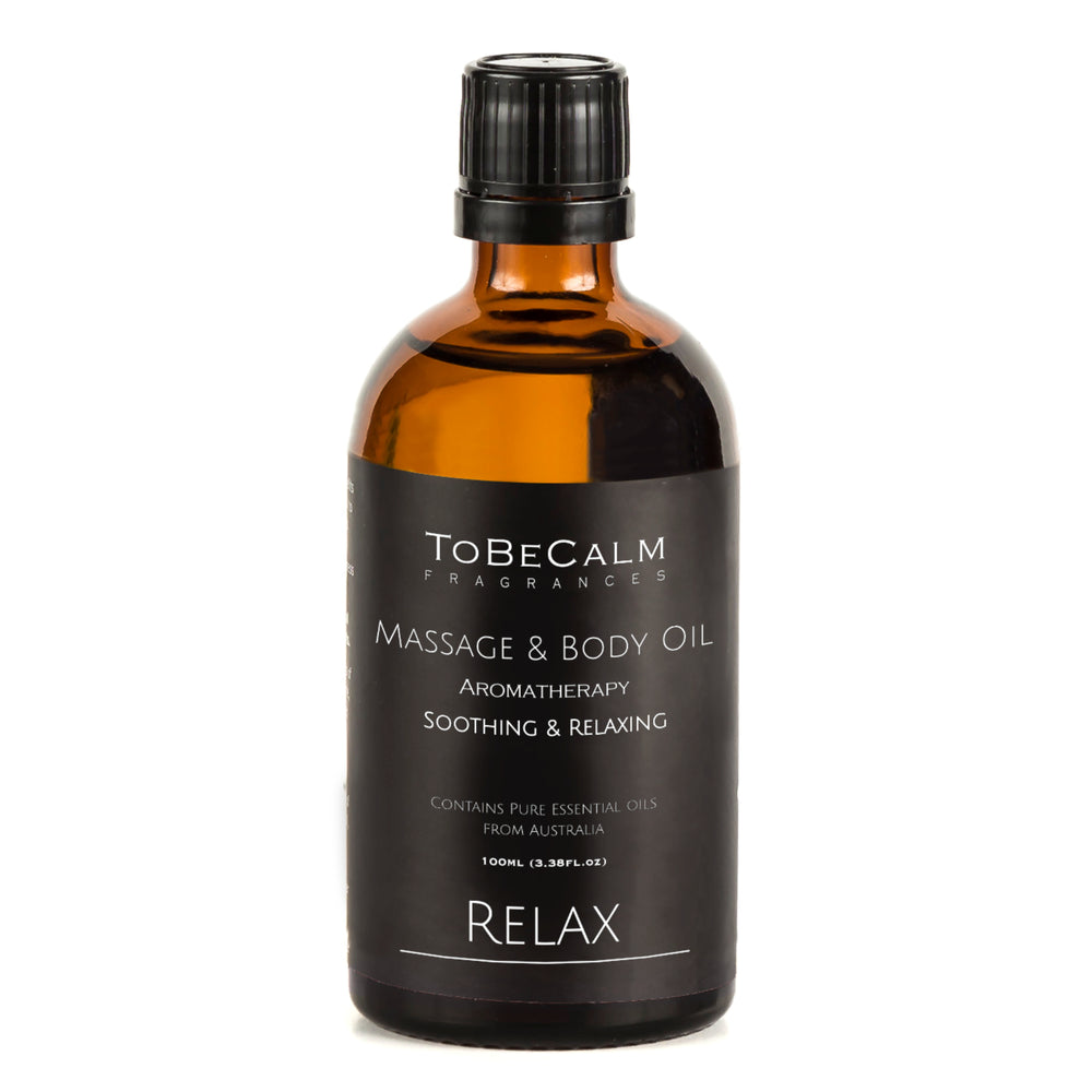 Relax Massage Oil - Lavender, Ylang Ylang, Sandalwood - Massage & Body Oil