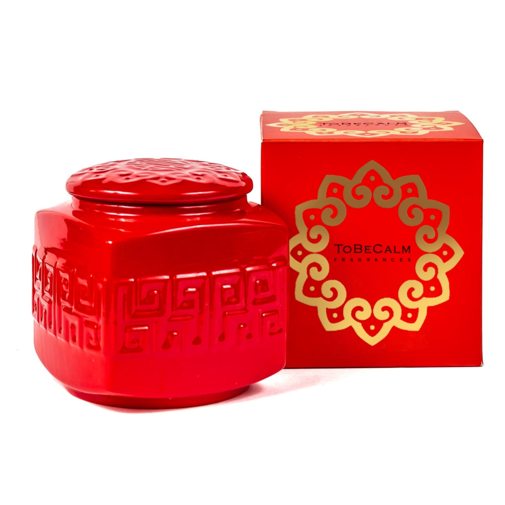 Red Porcelain - Tea Caddy Candle