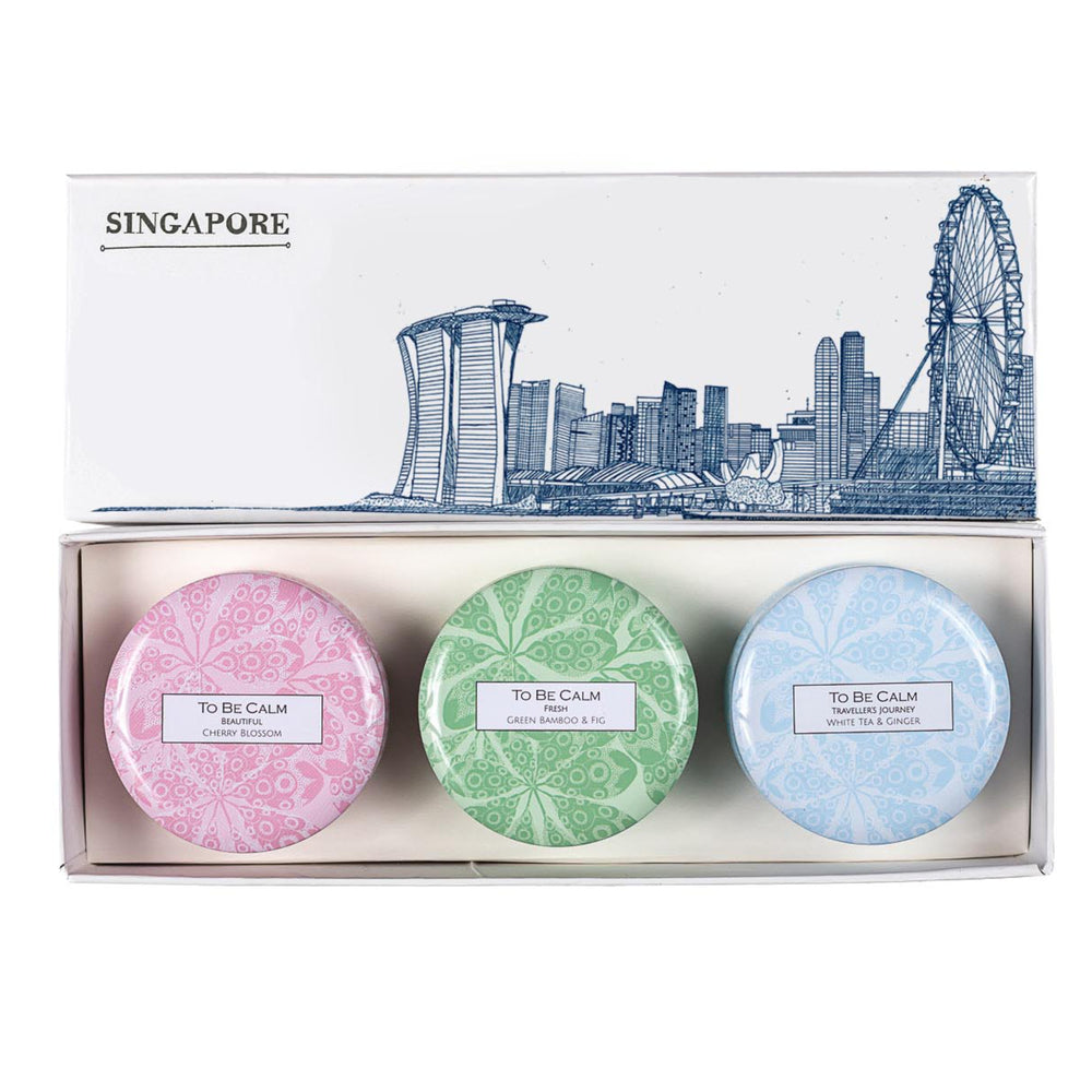 Singapore Skyline - Mini Candle Trio