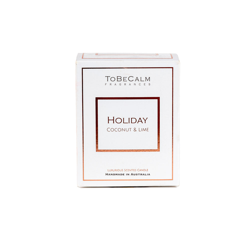 Holiday - Coconut & Lime - Luxury Large Soy Candle