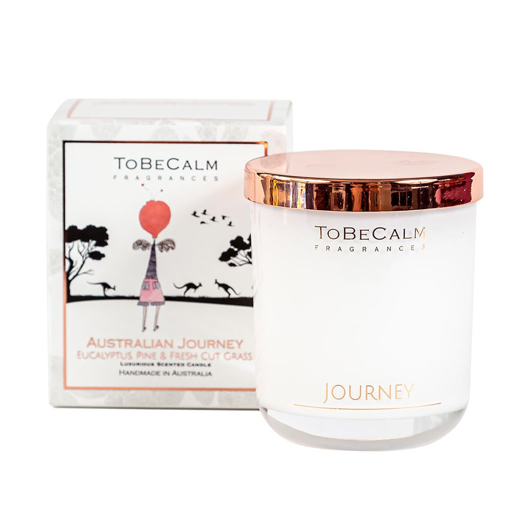 Australian Journey -  Eucalyptus, Pine & Fresh Cut Grass - Medium Soy Candle