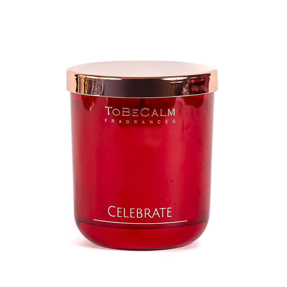 Celebrate - Pine, Cedar & Rose - Medium Soy Candle