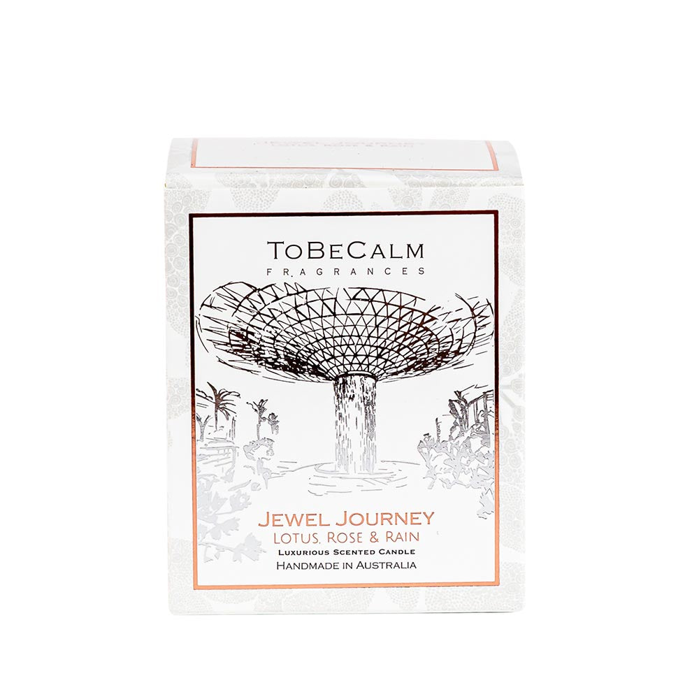Jewel Journey - Lotus, Rose & Rain - Medium Soy Candle