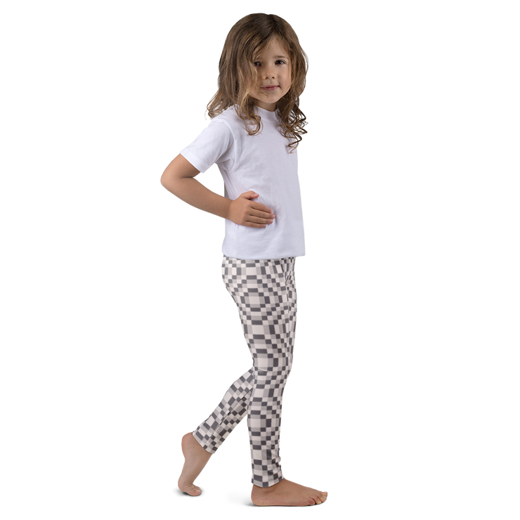 8-bit Beige Kids Leggings