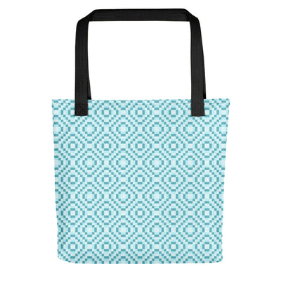 8-bit Light Blue Tote bag