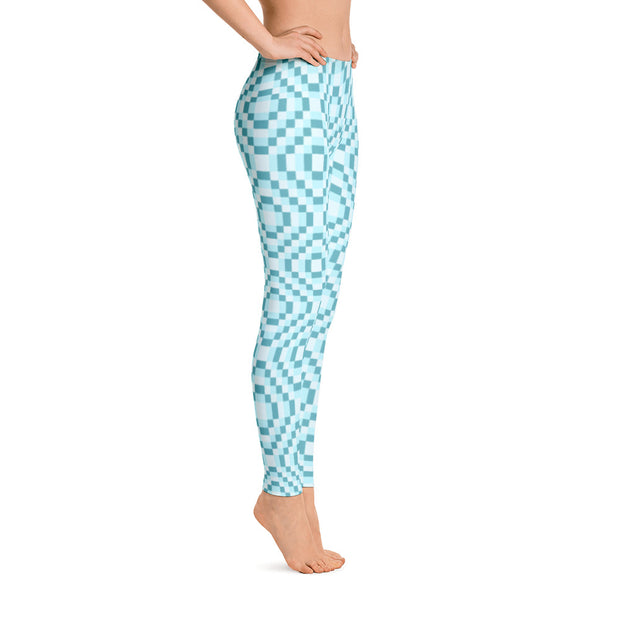 8-bit Light Blue Leggings