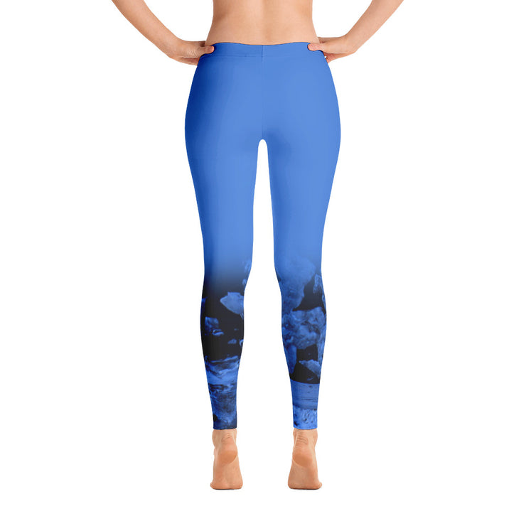 Light Blue Sea-at-Night Leggings