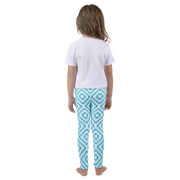 8-bit Light Blue Kids Leggings